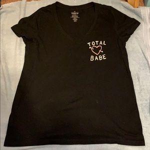 Total Babe v-neck tshirt